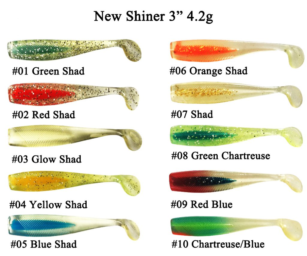 """NEW SHINER 3"""" 4.2G soft shiner lure.shiner lures for sale.shiner lures Plastic Fishing Factory"""